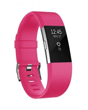 Band Fitbit Charge 2 (L) - Roze - Siliconen - Gesp