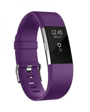 Fitbit Charge 2 bandje (L) - Paars - SIiliconen - Gesp