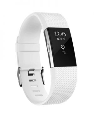 Fitbit Charge 2 bandje (L) - Wit - Siliconen - Gesp