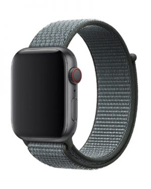 Apple Watch Series 4 & 5 bandje – 44mm – Nylon – Donkergrijs