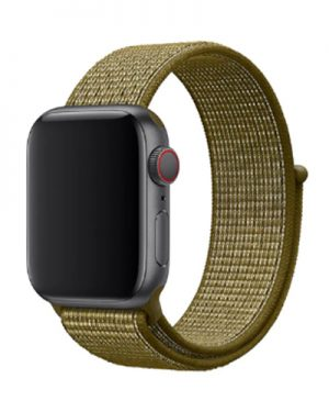 Apple Watch Series 4 & 5 bandje – 44mm – Nylon – Olijf