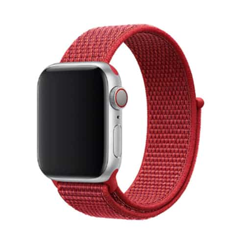 Apple Watch Series 4 & 5 bandje – 44mm – Nylon – Rood